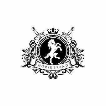 Horse brand, logo template