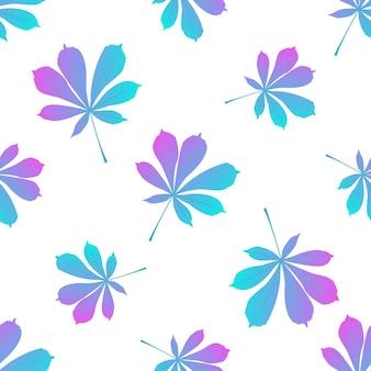 말 밤나무 잎 배경. 가 완벽 한 패턴입니다.