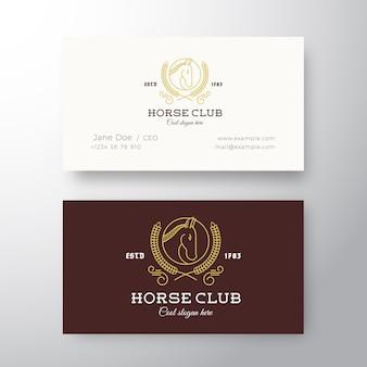 馬クラブリーグ抽象的な名刺テンプレート。