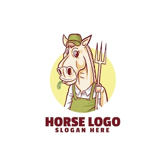 Логотип фермера на белом