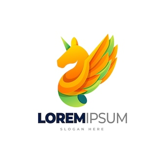 Horse gradient logo template