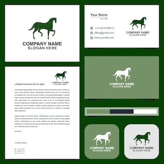 Horse green and business card