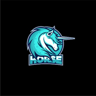 Horse head gaming logo design