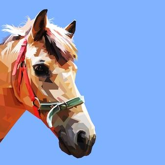 Horse head in geometric art style