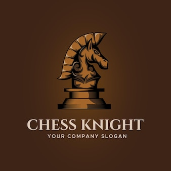Horse knight chess logo design