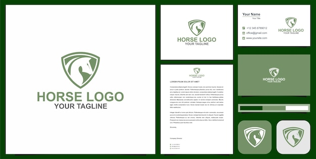 Horse logo and business card