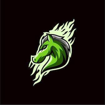Лошадь логотип дизайн