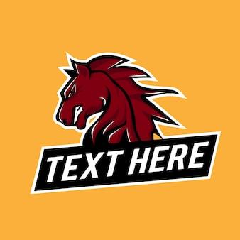 Horse logo esport vector