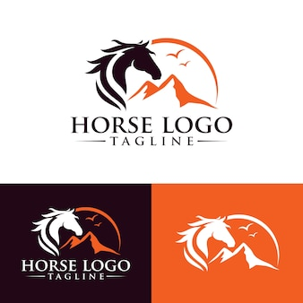 Horse logo template stock image