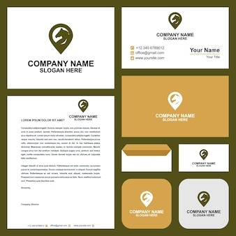 Horse map and business card