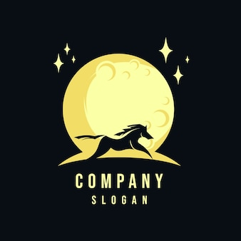 Horse and moon logo