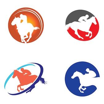 Horse racehorse logo symbol collection