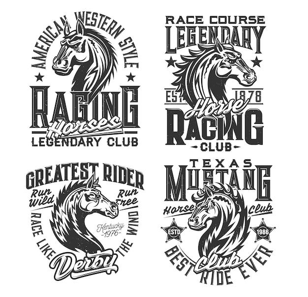 Скачки спорт и принты на футболках конного клуба