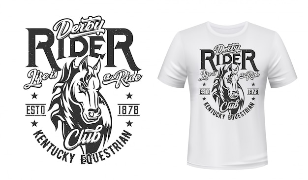 馬の種馬tシャツプリント、馬術スポーツ