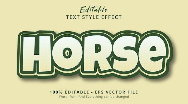 밝은 색상 조합 스타일의 말 텍스트, 편집 가능한 텍스트 효과