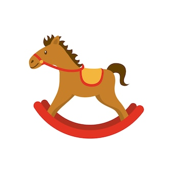 Horse wood toy icon