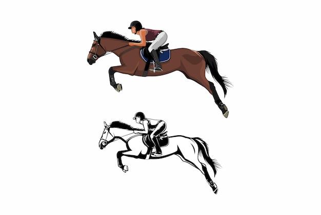 Верховая езда иллюстрация