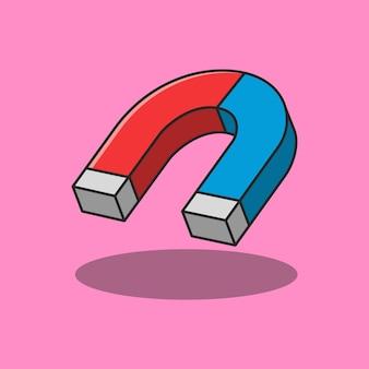 Подковообразный магнит иллюстрации дизайн