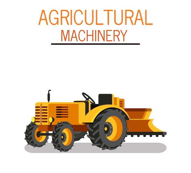 Horticultural seeding tractor vector illustration