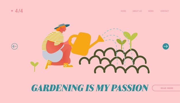 Horticulture and olericulture hobby website landing page