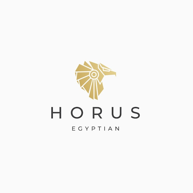 Гора египетского бога логотип значок дизайн шаблона плоский вектор