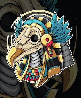 エジプト神話のキャラクターデザインのホルス神。