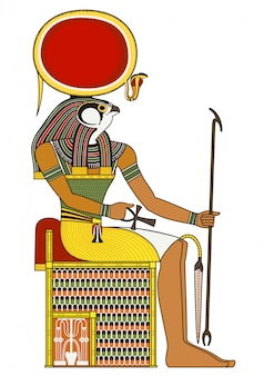 Horus, isolated figure of ancient egypt god