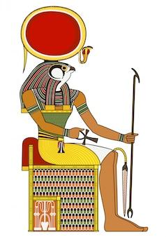 Horus, 고대 이집트 신의 고립 된 그림