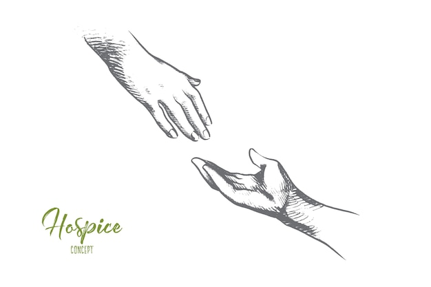 Hospice concept illustration