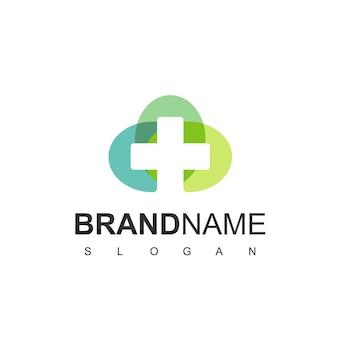 Шаблон логотипа больницы и клиники