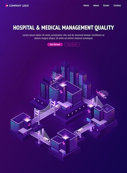 スマートシティの病院と医療管理