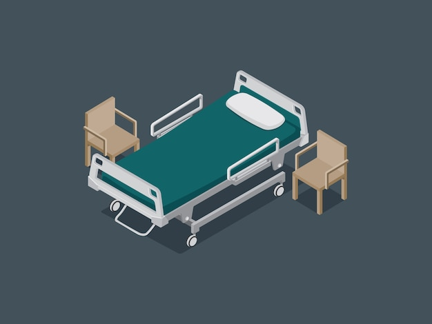 Hospital bed for decorate isometric