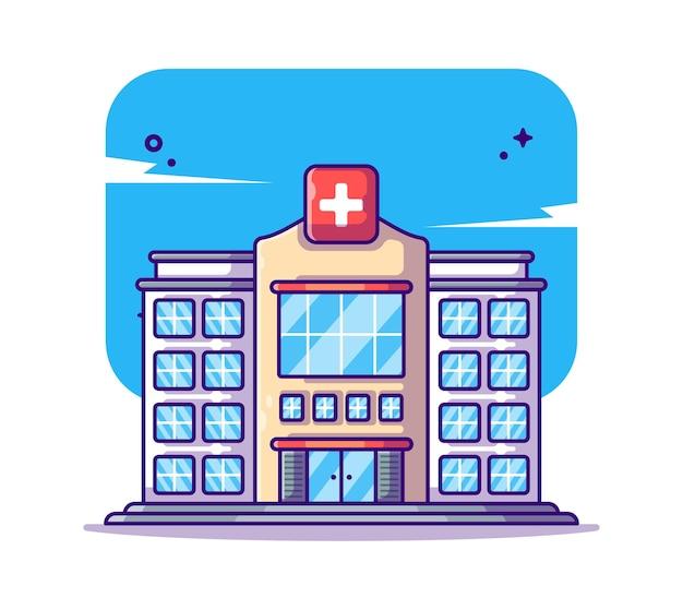 Здание больницы иллюстрации шаржа