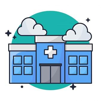 病院の建物のアイコン