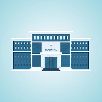 Hospital building vector illustration