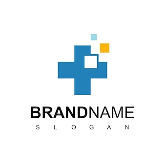 Hospital and clinic logo design template