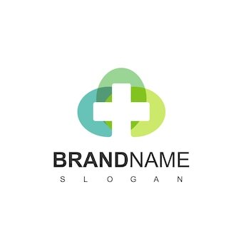 Hospital and clinic logo template