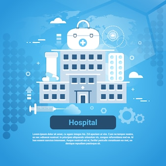 Hospital clinic and medical treatment concept web banner