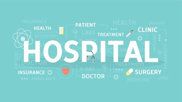 病院の概念図。