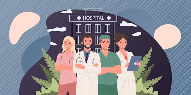 Hospital doctor staff