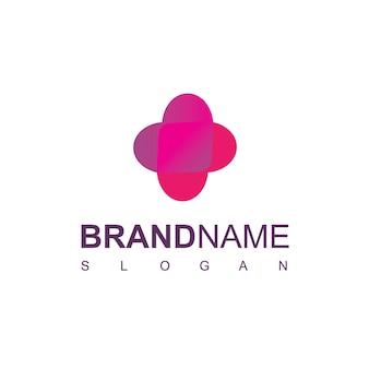 Шаблон дизайна логотипа больницы с символом любви