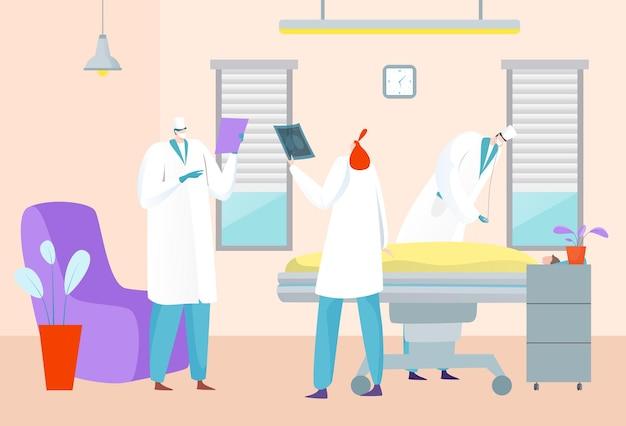 Пациент больницы человек в клинике, здравоохранение и лечение от врача