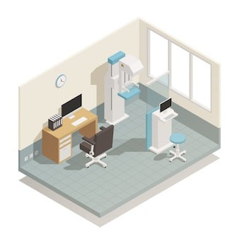 Hospital medical equipment isometric