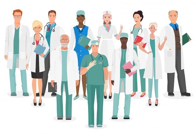 Hospital medical staff team doctors
