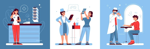 Hospital medicine design concept
