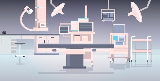 Больничный операционный стол и медицинские приборы