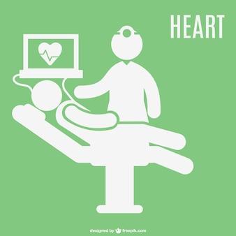 Hospital patient electrocardiogram