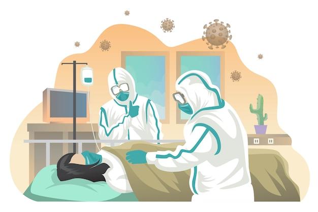 Больной больницы с коронавирусом