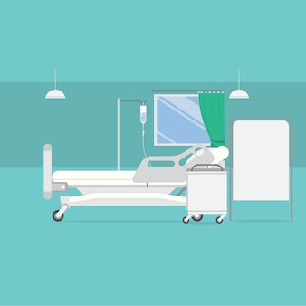 Hospital room background design