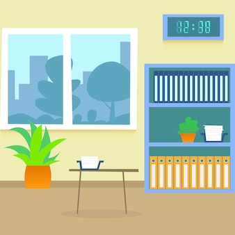 Hospital room flat illustration